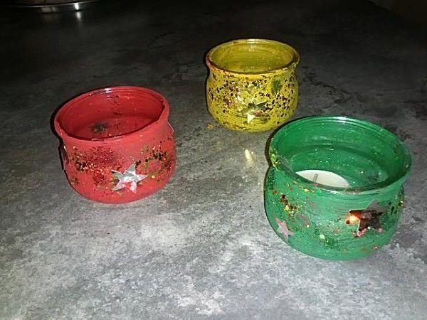 Bricolage photophore noel id es de for Combricolage avec pot en verre